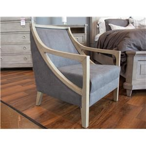 Hopkins Charcoal Accent Chair with White Washed Wood