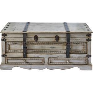 Light Grey Rectangular Storage Cocktail Table