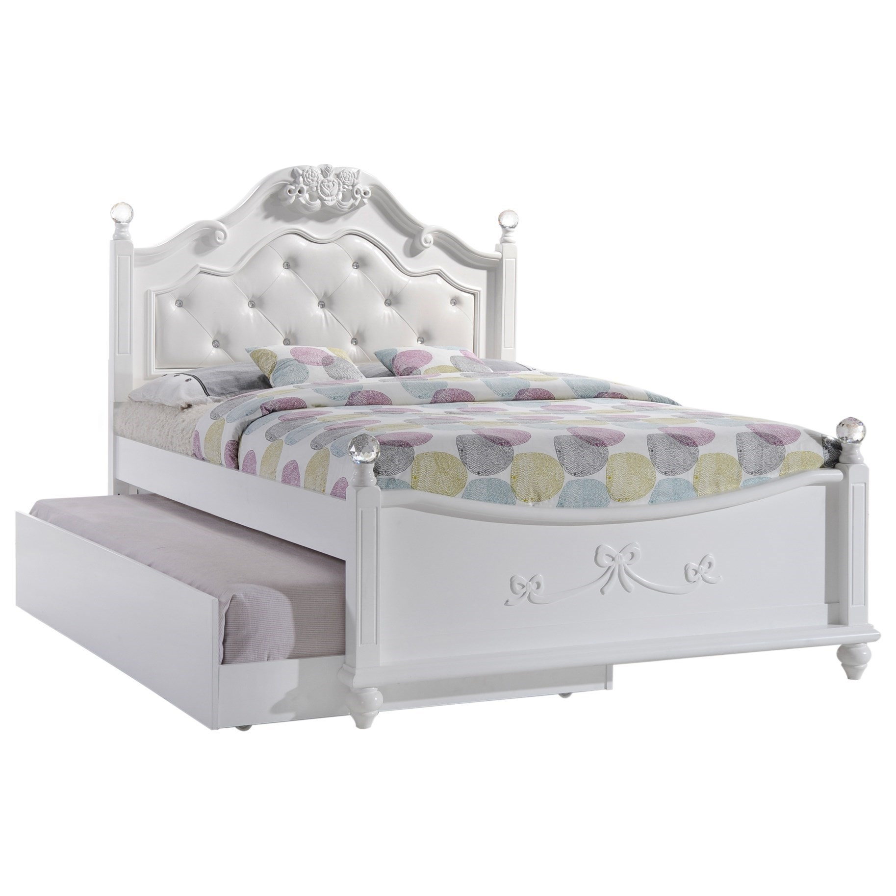 BELLA Full Platform Bed w/ Storage Trundle by EFO at EFO Furniture Outlet
