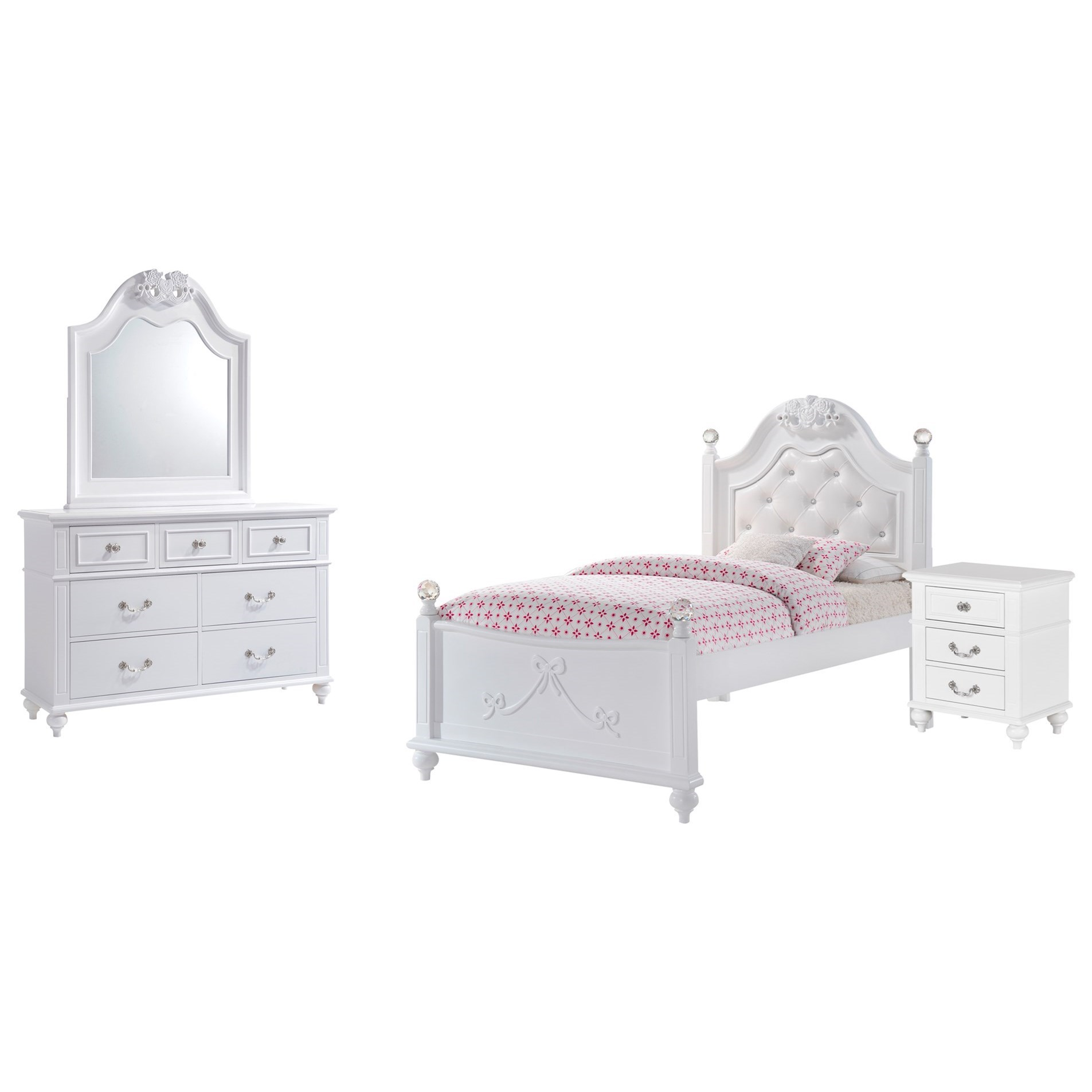 Alana Twin 4-Piece Bedroom Set by Elements International at Beck's Furniture