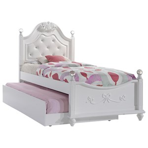 Twin Platform Bed with Storage Trundle