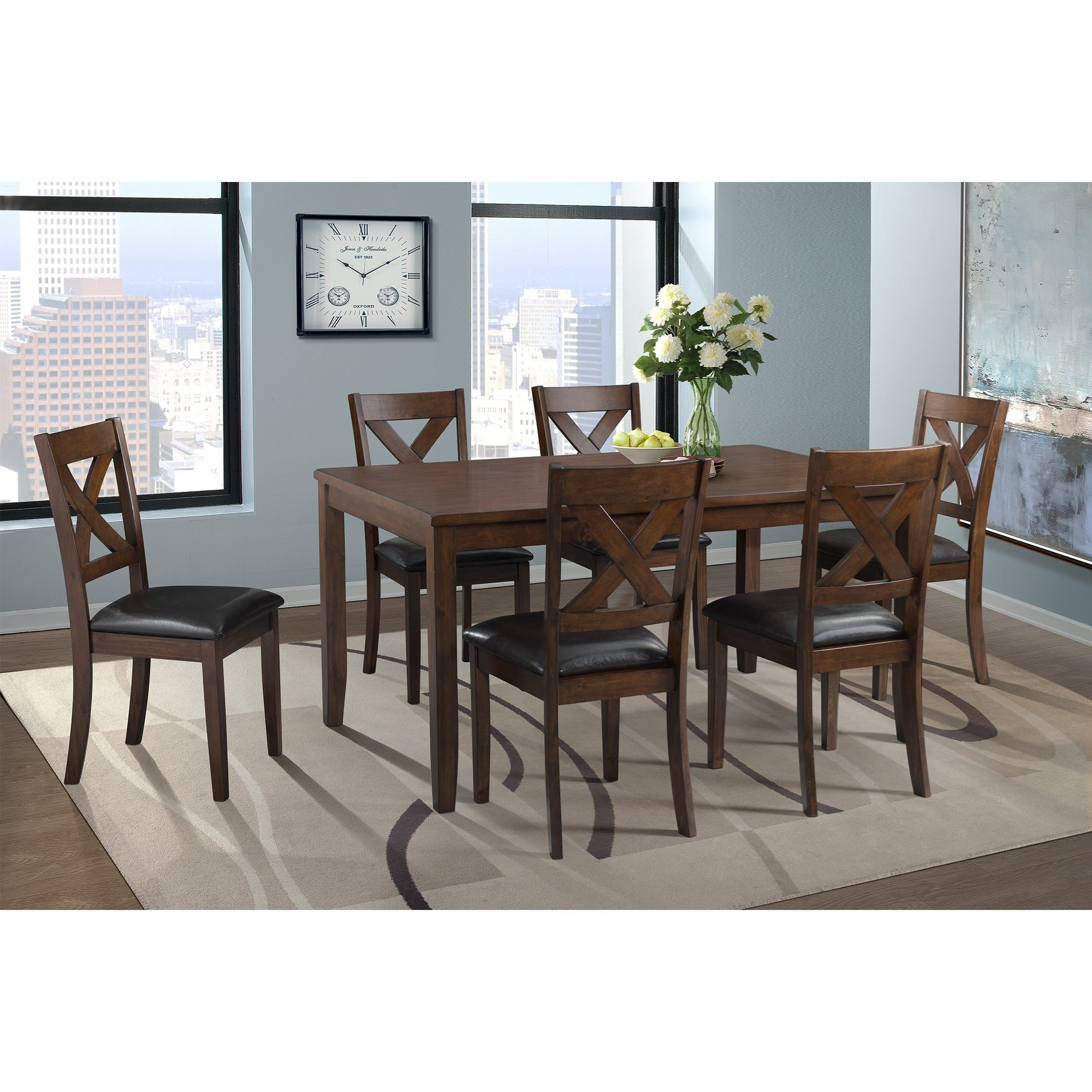 Alex 7-Piece Dining Set by Elements International at Becker Furniture