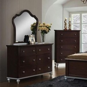 Glamorous Dresser and Mirror Set