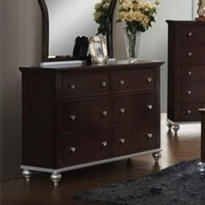 Glamorous Youth Dresser with Six Drawers