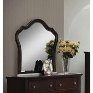 Beveled Mirror with Bonn Shaped Wood Frame