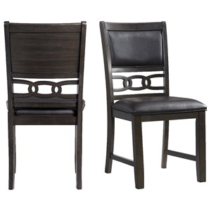 Standard Height Faux Leather Side Chair