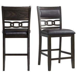 Counter Height Faux Leather Side Chair