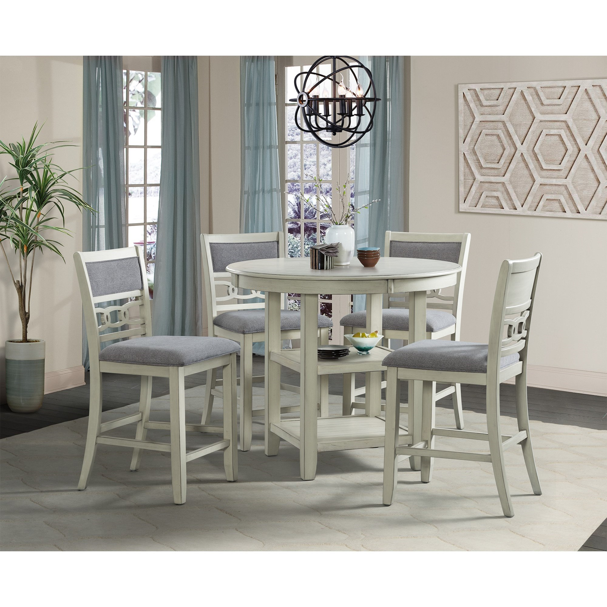 Amherst 5-Piece Pub Table Set by Elements International at Smart Buy Furniture