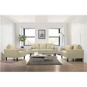 Contemporary Sofa, Loveseat & Chair Set