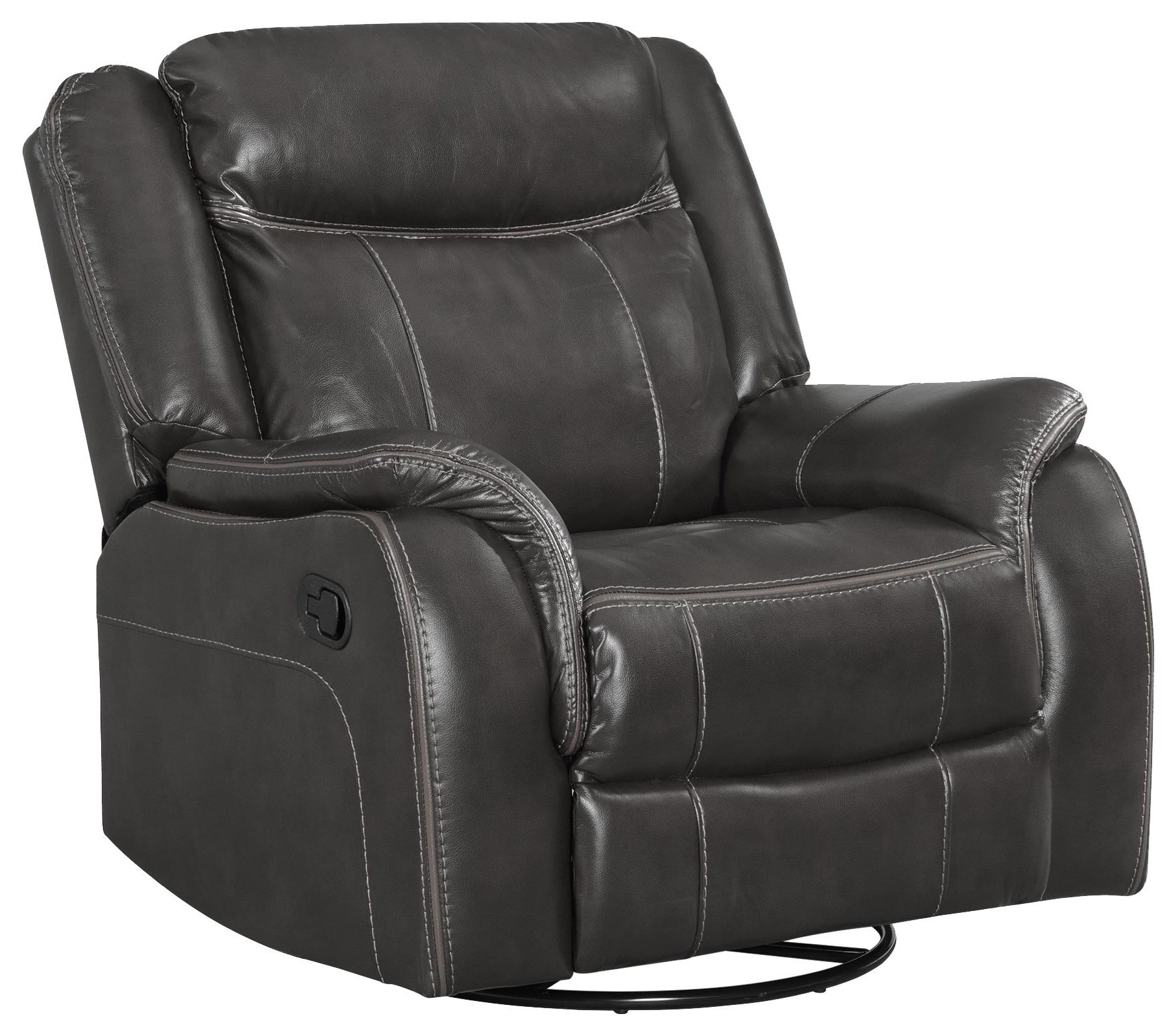 Avalon Motion Swivel Glider Recliner by Elements International at Smart Buy Furniture