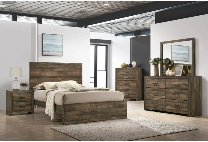 Bailey 4 Piece King Bedroom Set by Elements International at Sam Levitz Outlet