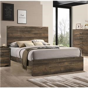 Contemporary King Panel Bed