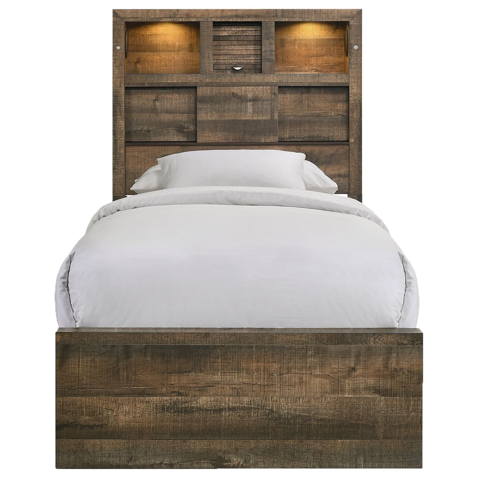 Bailey Twin Bookcase Bed by Elements International at Household Furniture