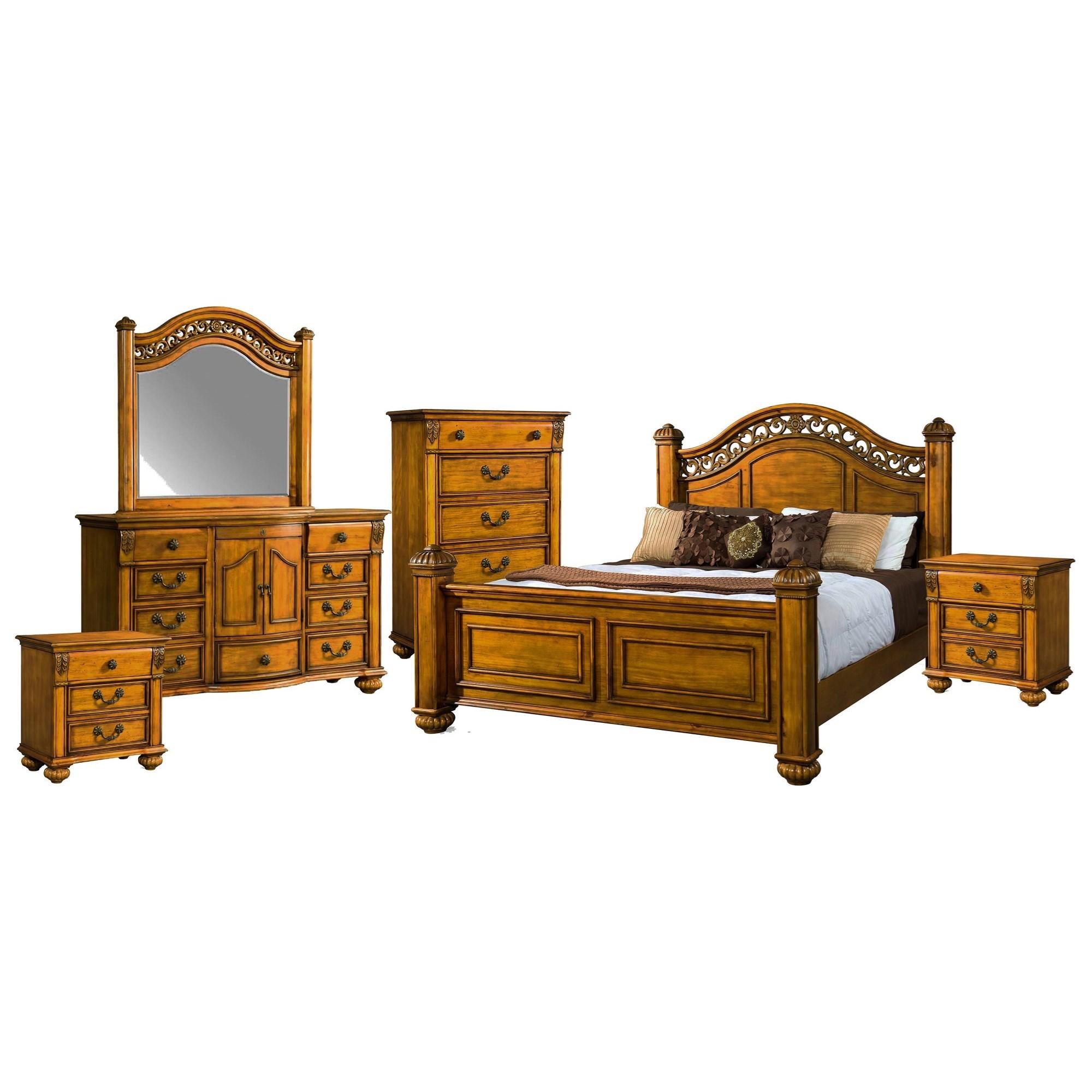 Queen Poster 6-Piece Bedroom Set