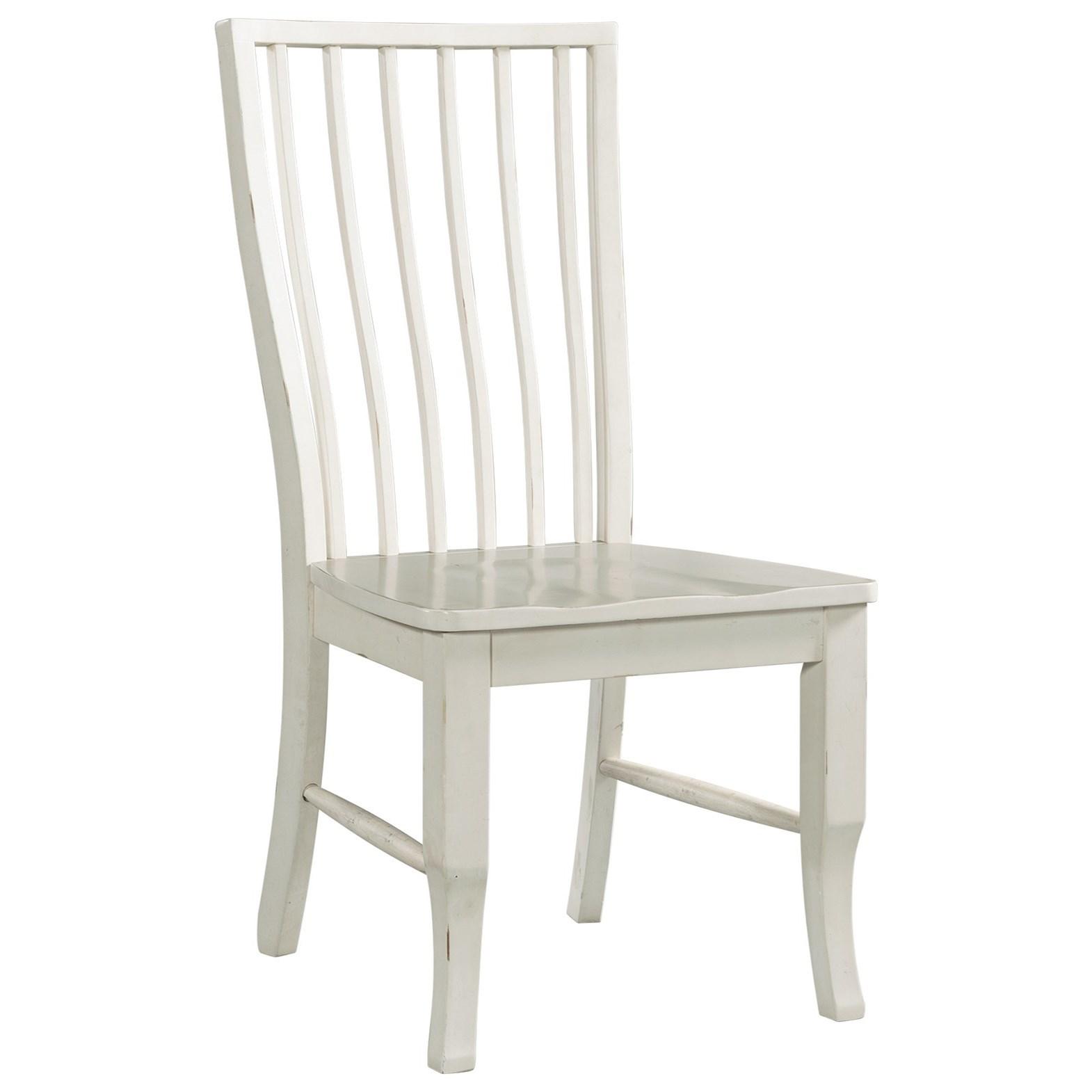 Bristol Bay Slat Back Side Chair by Elements International at Zak's Warehouse Clearance Center