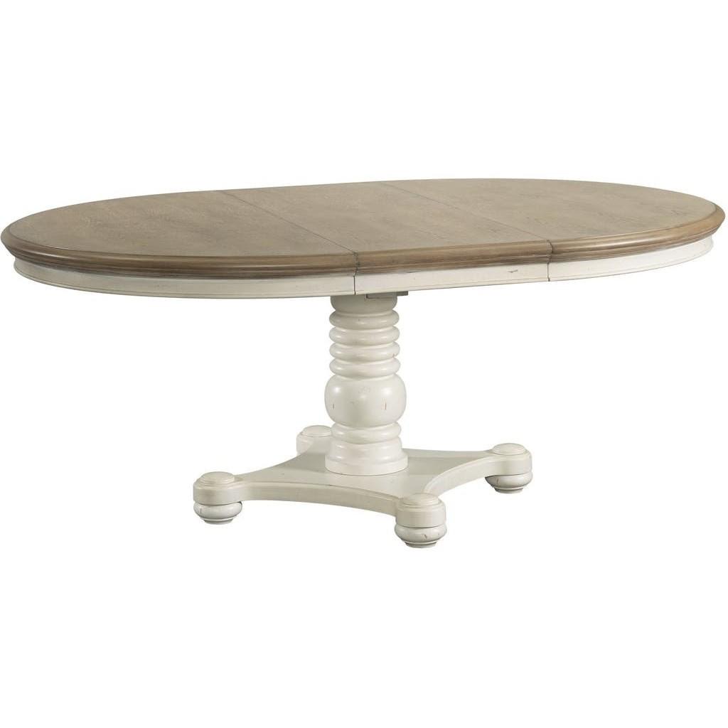 Bristol Bay Pedestal Dining Table by Elements International at Bullard Furniture