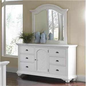 Classic Dresser and Mirror Set