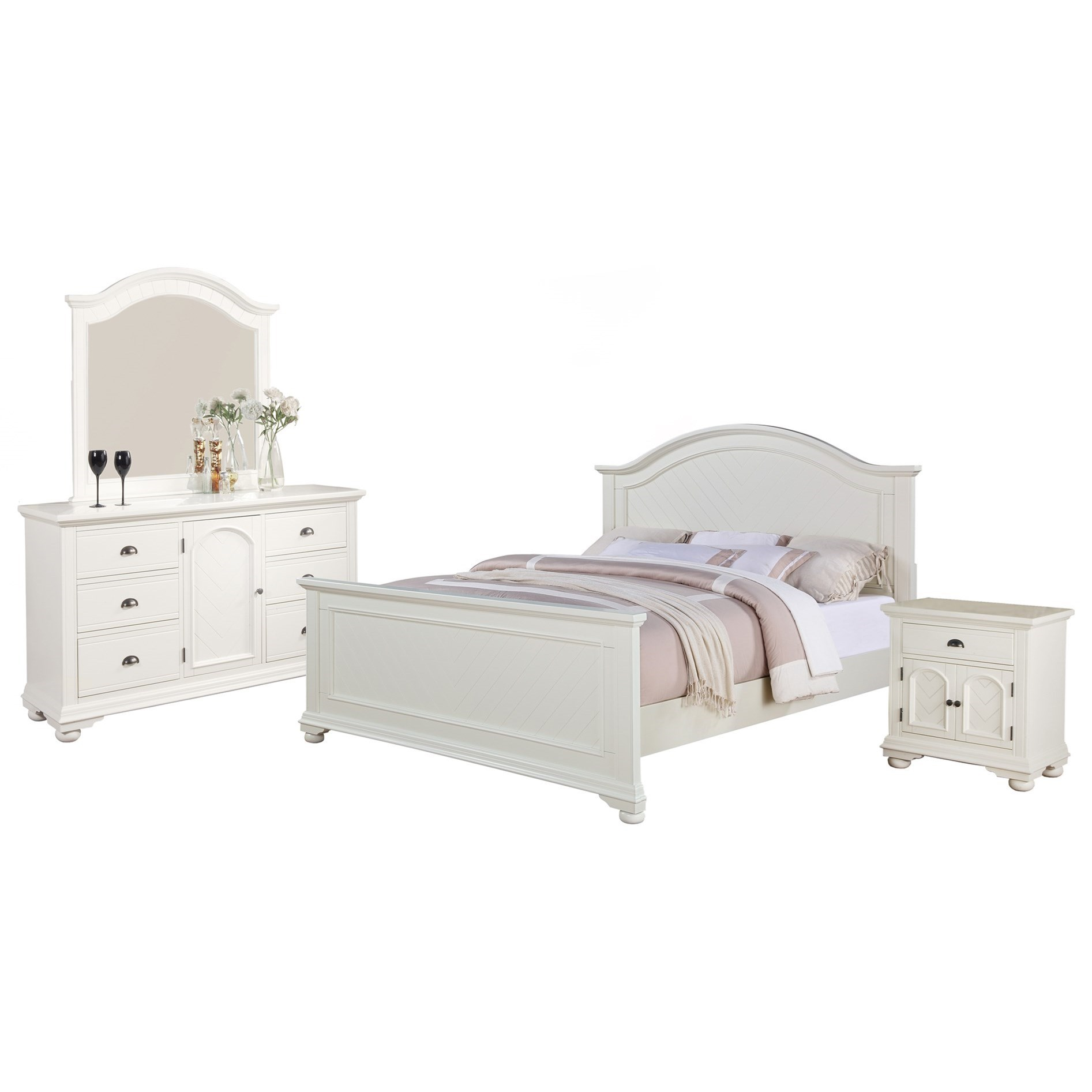 Brook King Bedroom Group by Elements International at Bullard Furniture