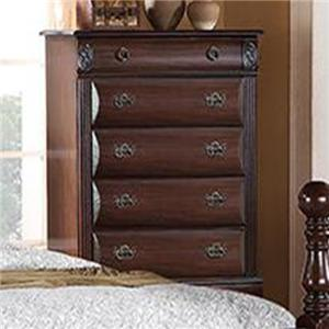 Chest of Drawers with 5 Drawers