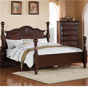 Queen Platform Bed with Arched Headboard