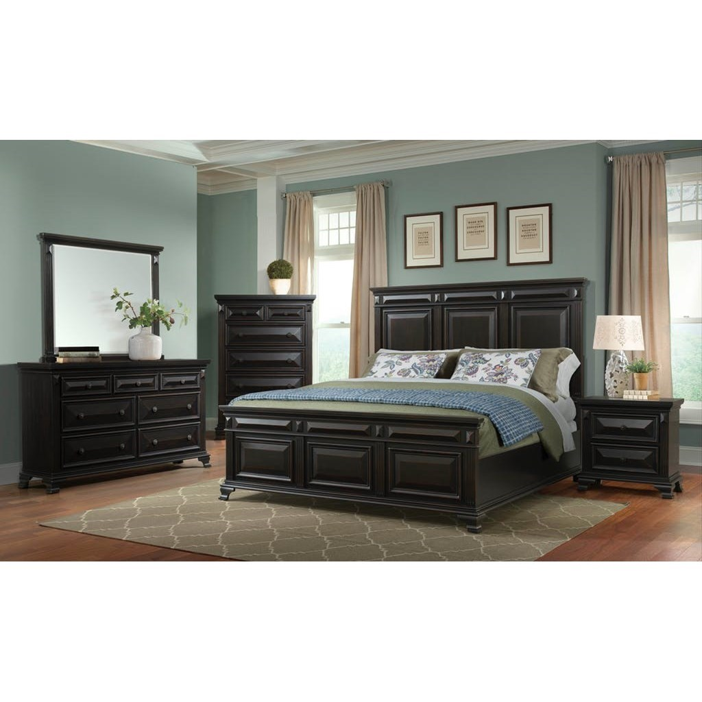 Calloway 5-Piece Queen Bedroom Group by Elements International at Powell's Furniture and Mattress