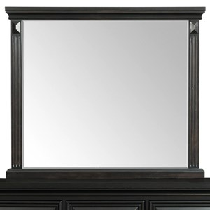 Framed Mirror with Fluted Pilasters
