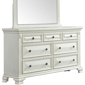 Traditional Dresser with Fluted Pilasters
