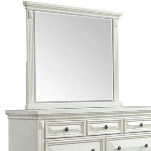 Framed Dresser Mirror with Fluted Pilasters