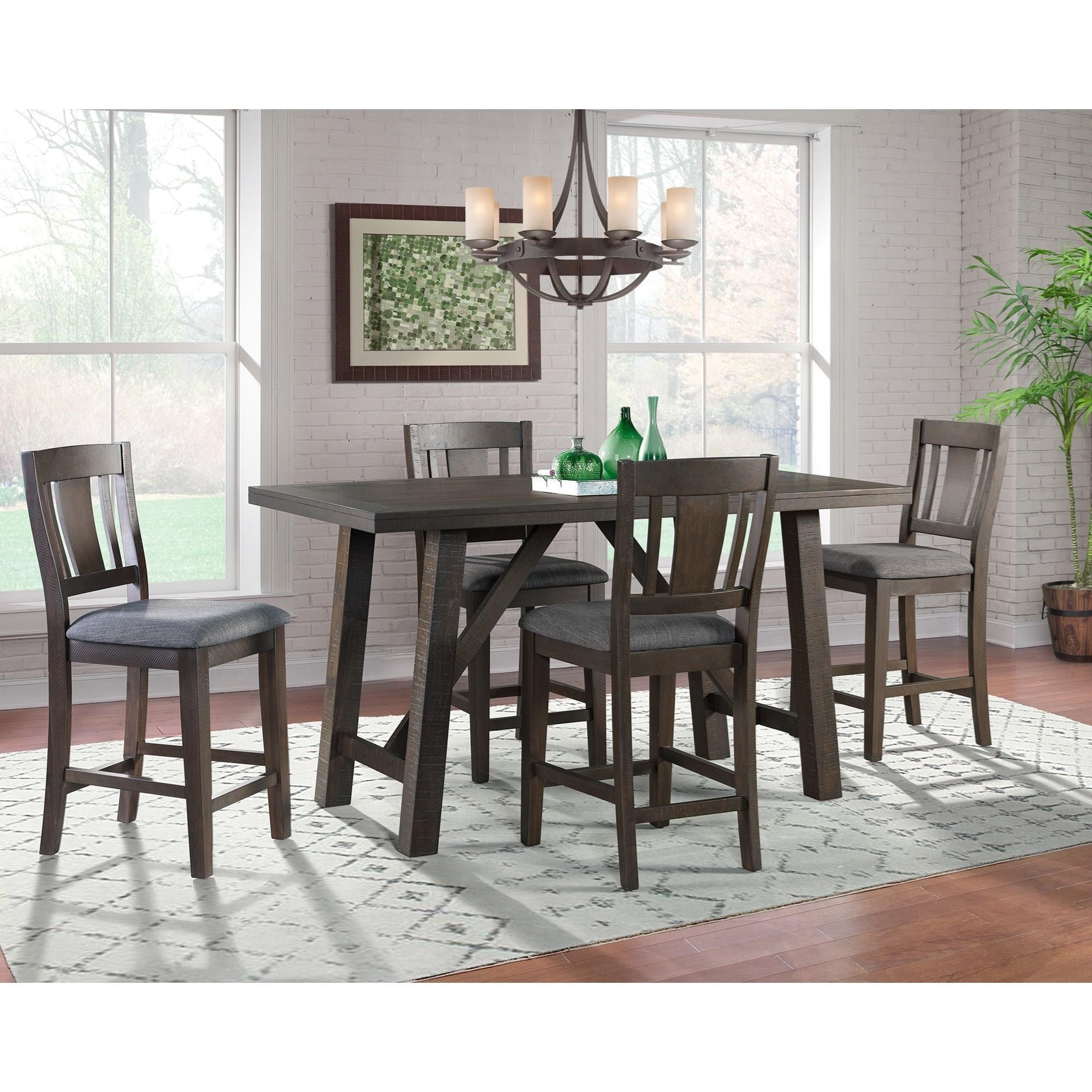 Cash 5-Piece Counter Height Dining Set by Elements International at Wilcox Furniture