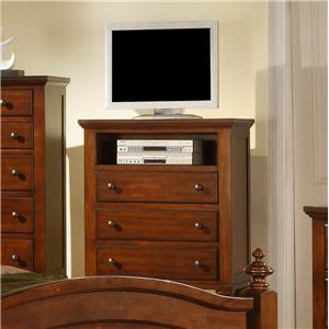 Transitional Media Chest with Component Storage