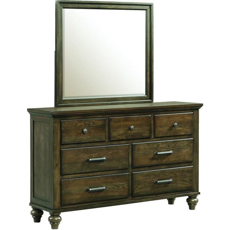 Chatham Gray Dresser & Mirror by Elements International at Johnny Janosik