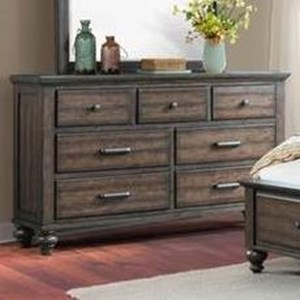 Transitional 7 Drawer Dresser