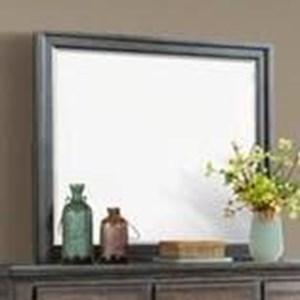 Framed Landscape Dresser Mirror