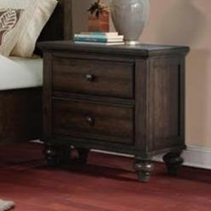 Transitional Nightstand with 2 Drawers