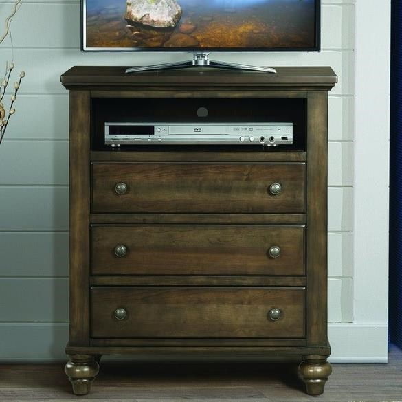 Chatham Gray Media Chest by Elements International at Zak's Warehouse Clearance Center