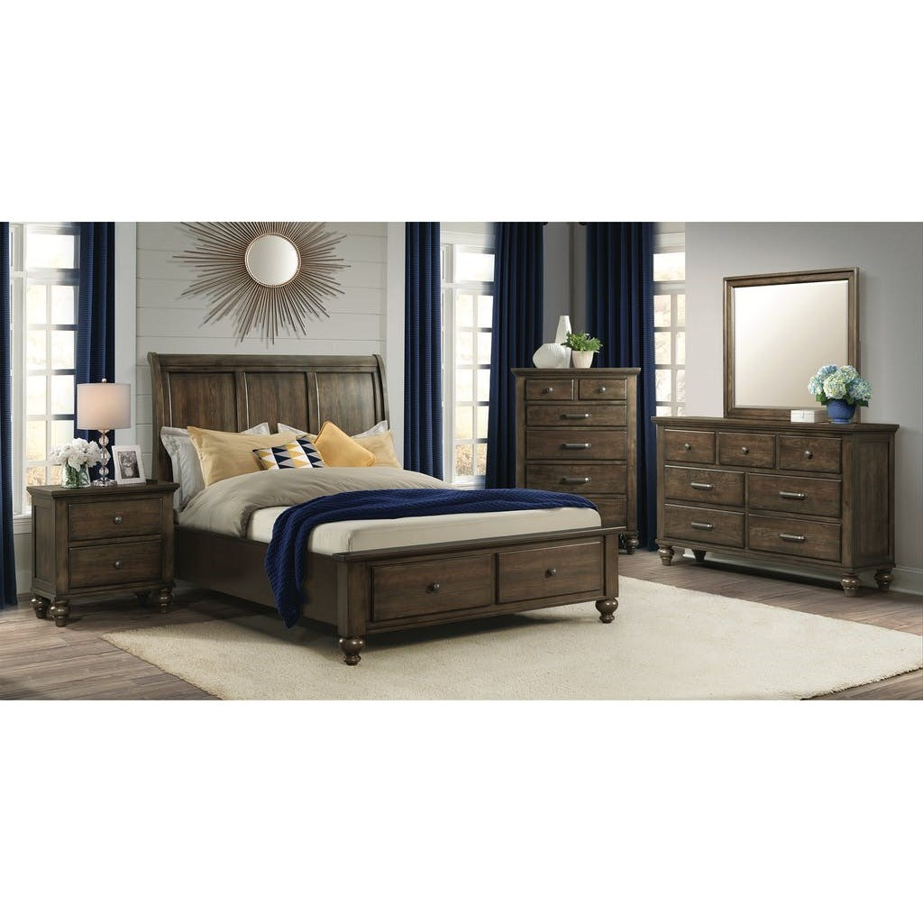 Chatham Gray King Bedroom Group by Elements International at Johnny Janosik