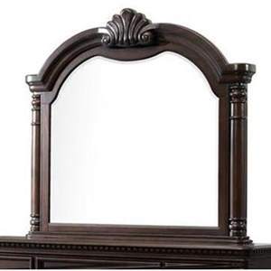 Framed Mirror with Shell Centerpiece