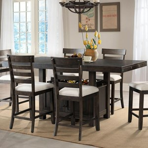 Counter Height Dining Set with Built-in Storage