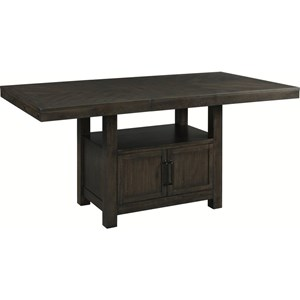 Transitional Counter Height Table with Wine Storage