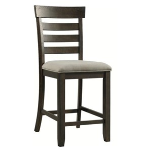 Transitional Counter Height Stool with Upholstered Seat
