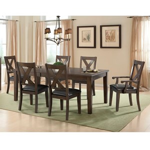 Table and X-Backrest Chair Set