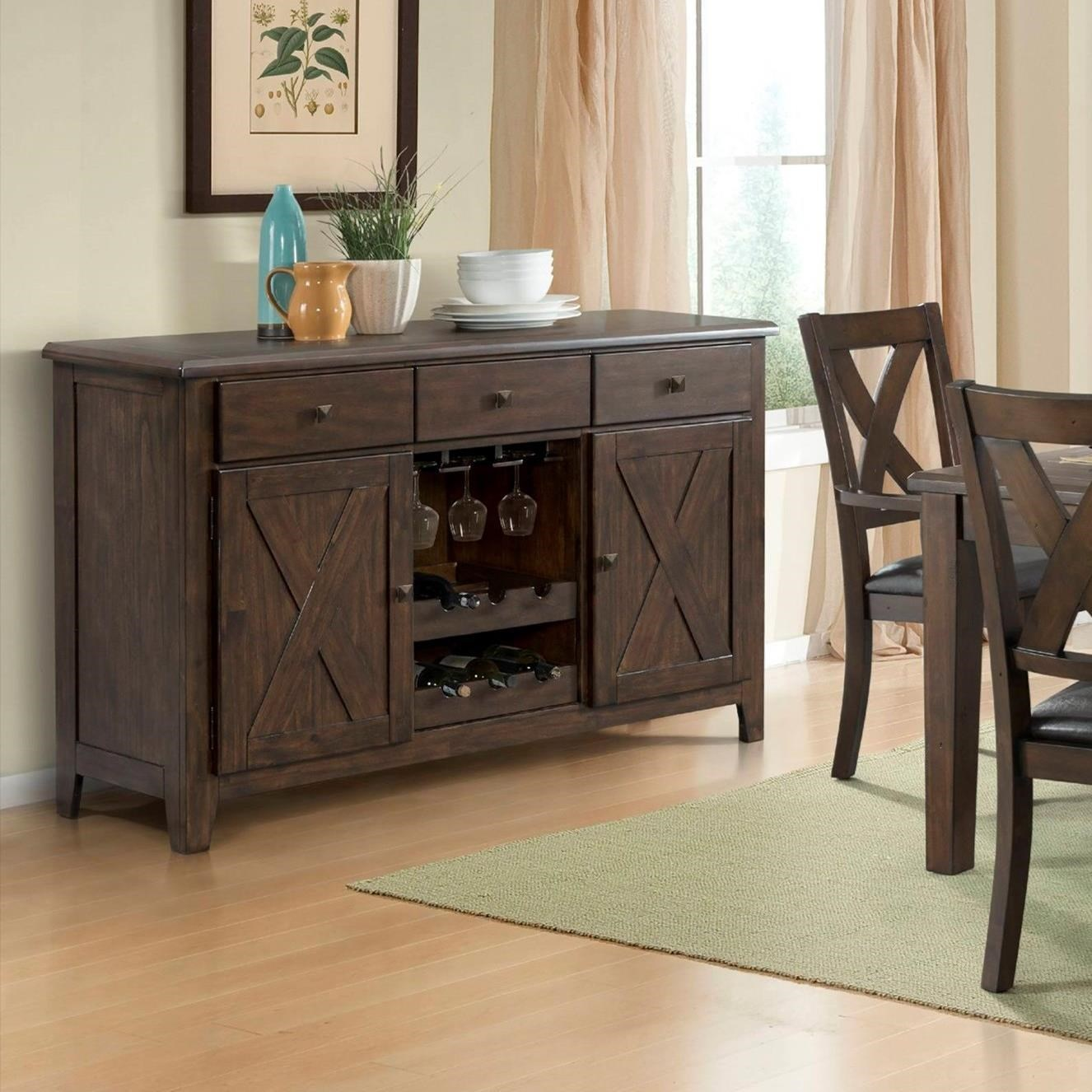 Copper Ridge Server by Elements International at Household Furniture