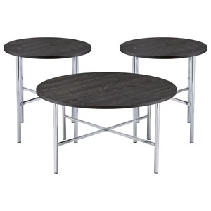 3PC Occasional Table Set with Round Coffee Table and Round End Tables