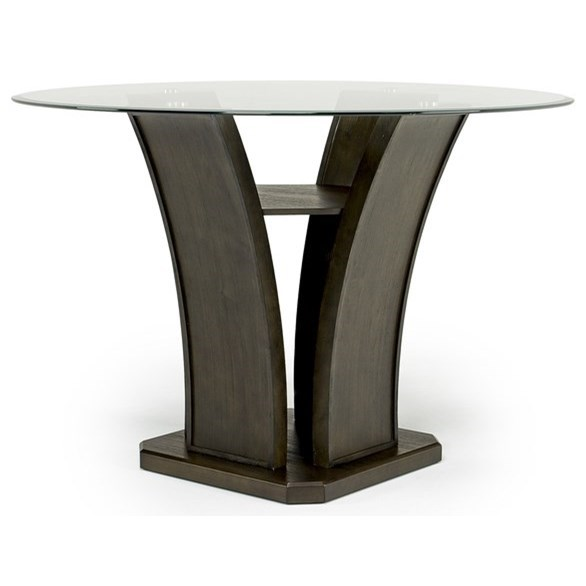 Dapper Round Counter Table by Elements International at Dream Home Interiors