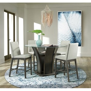 5-Piece Round Counter Table and Chair Set