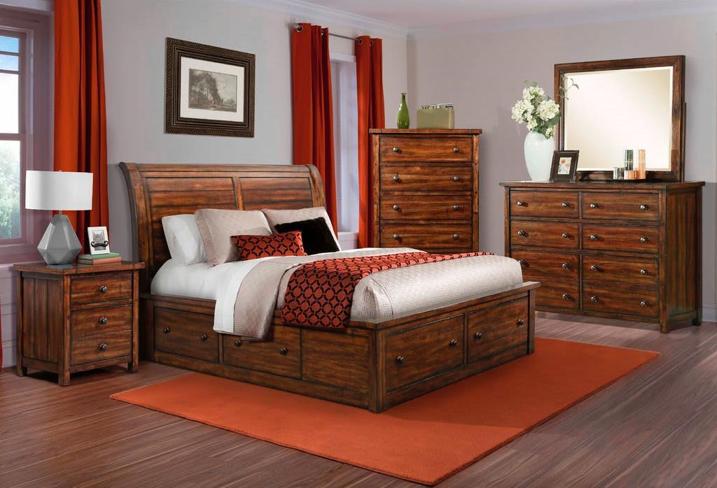 Dawson Creek 4 Piece King Bedroom at Ruby Gordon Home