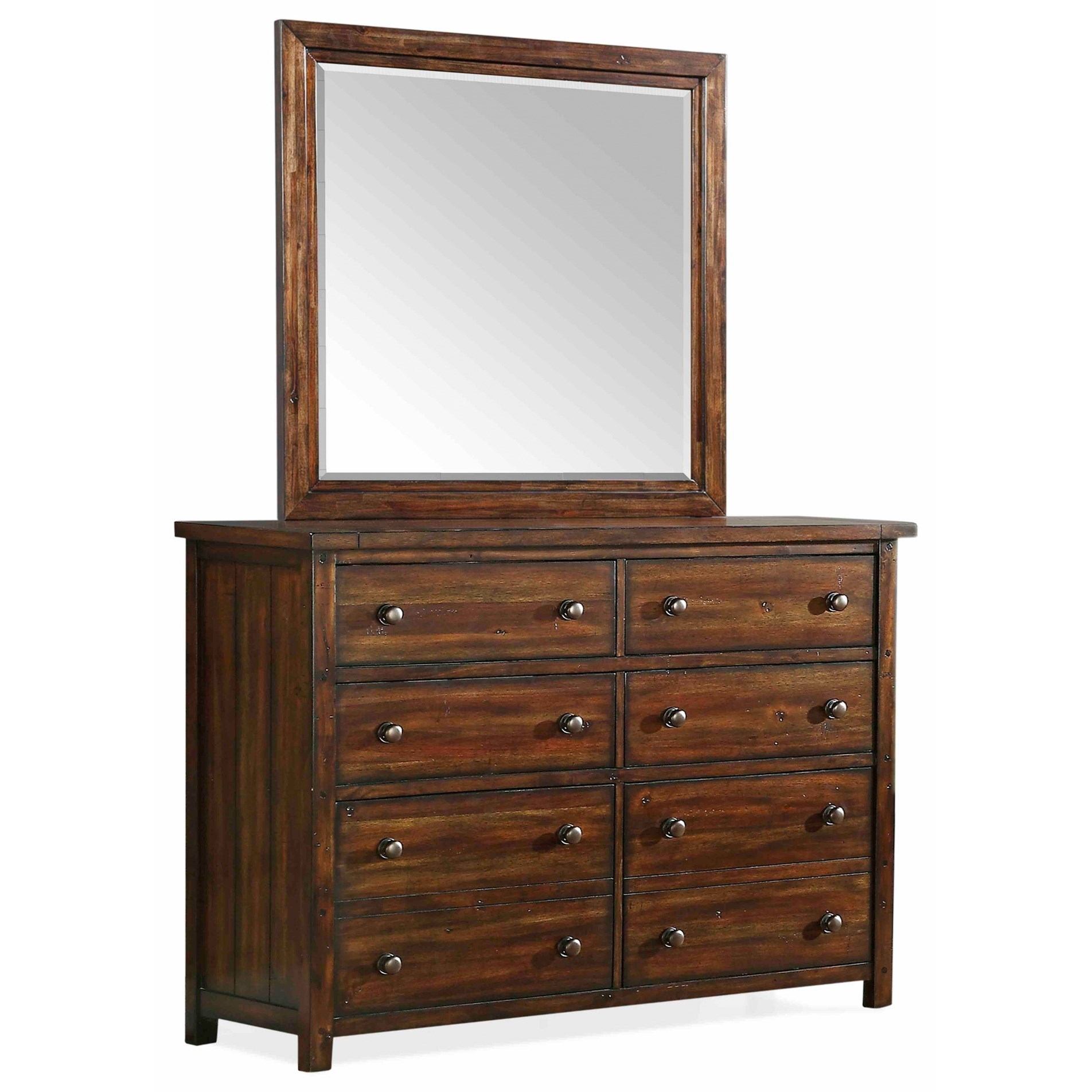 Dawson Creek Dresser and Mirror Set by Elements International at Wilcox Furniture