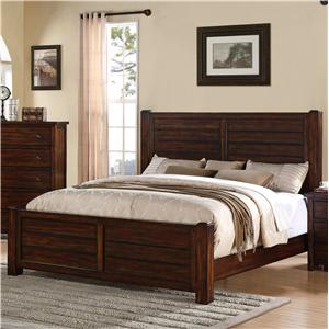 King Bed with Paneling