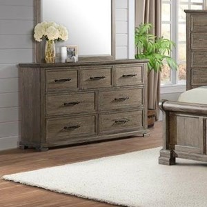 Transitional Dresser with Seven Drawers