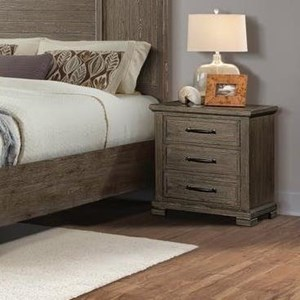 Transitional Nightstand with Three Drawers